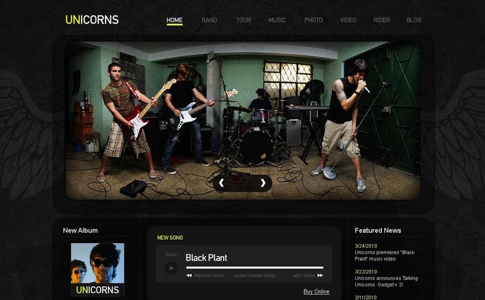 PSD шаблон №54214 на тему музыкальная группа New Screenshots BIG