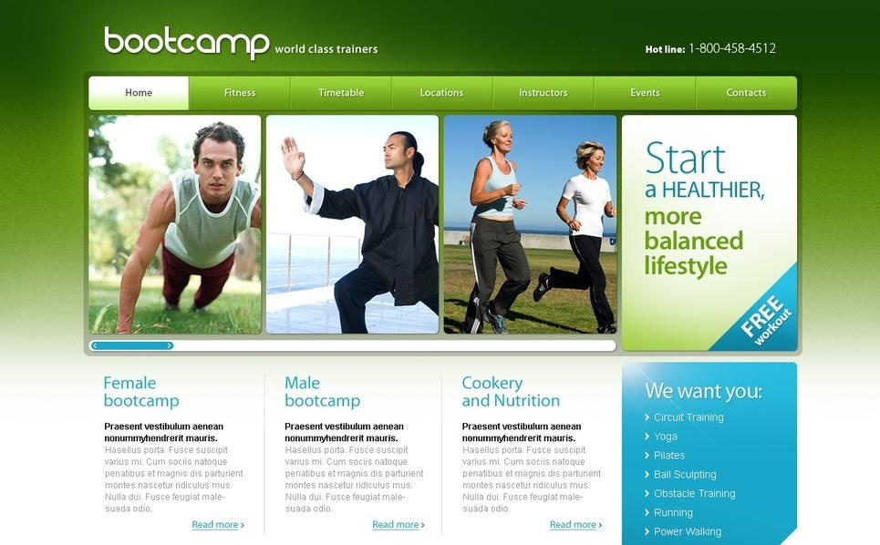 PSD Template over Camping  New Screenshots BIG