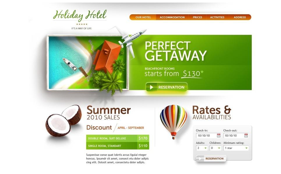 PSD Template over Hotels  New Screenshots BIG