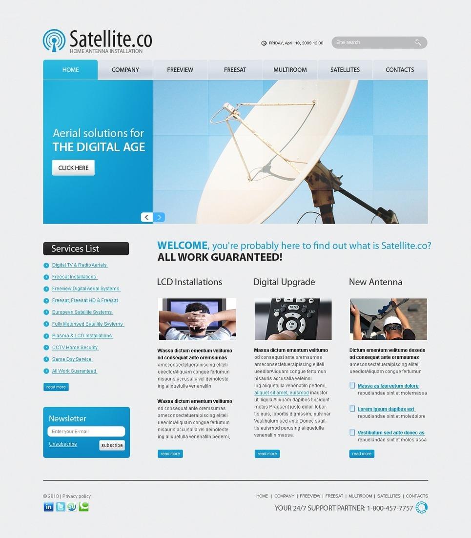 Satellite TV PSD Template New Screenshots BIG