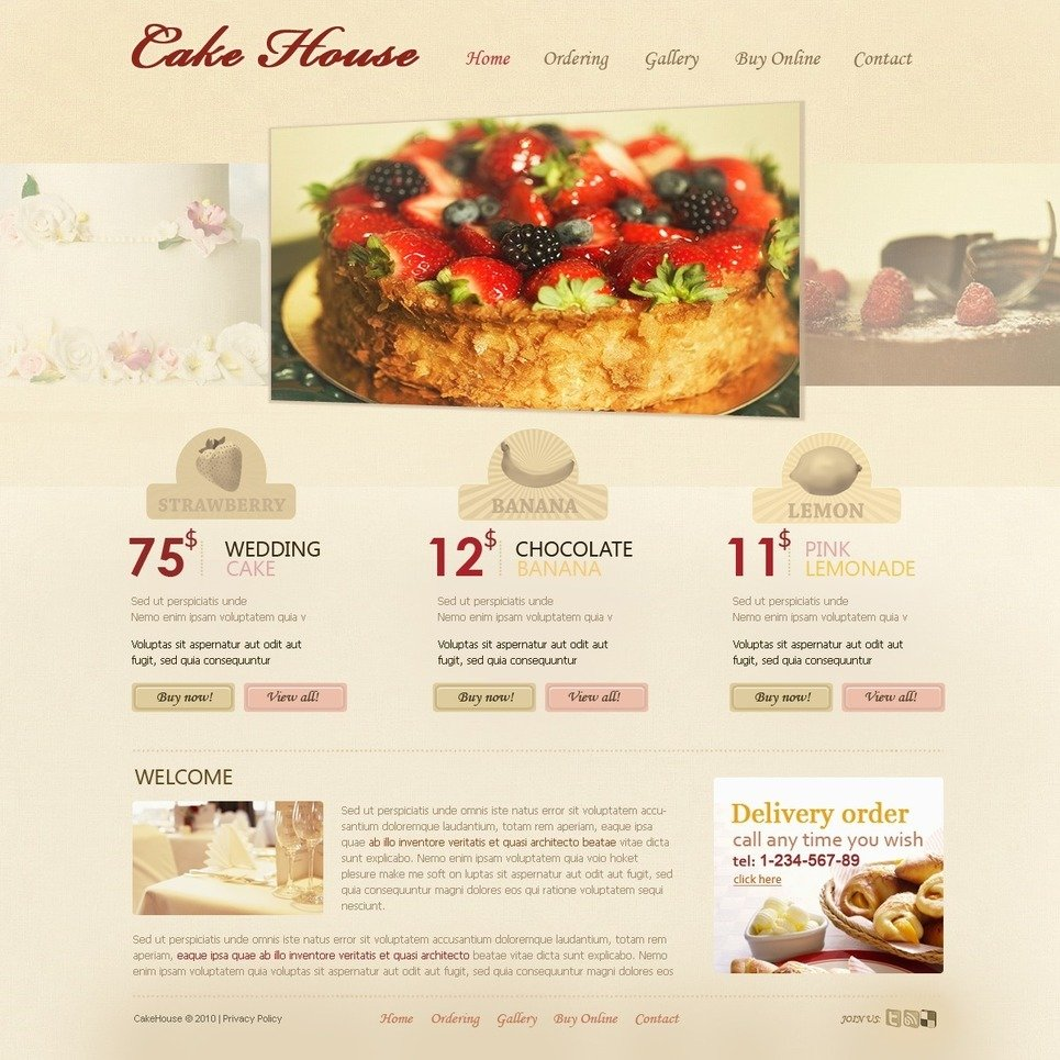 Sweet Shop PSD Template New Screenshots BIG