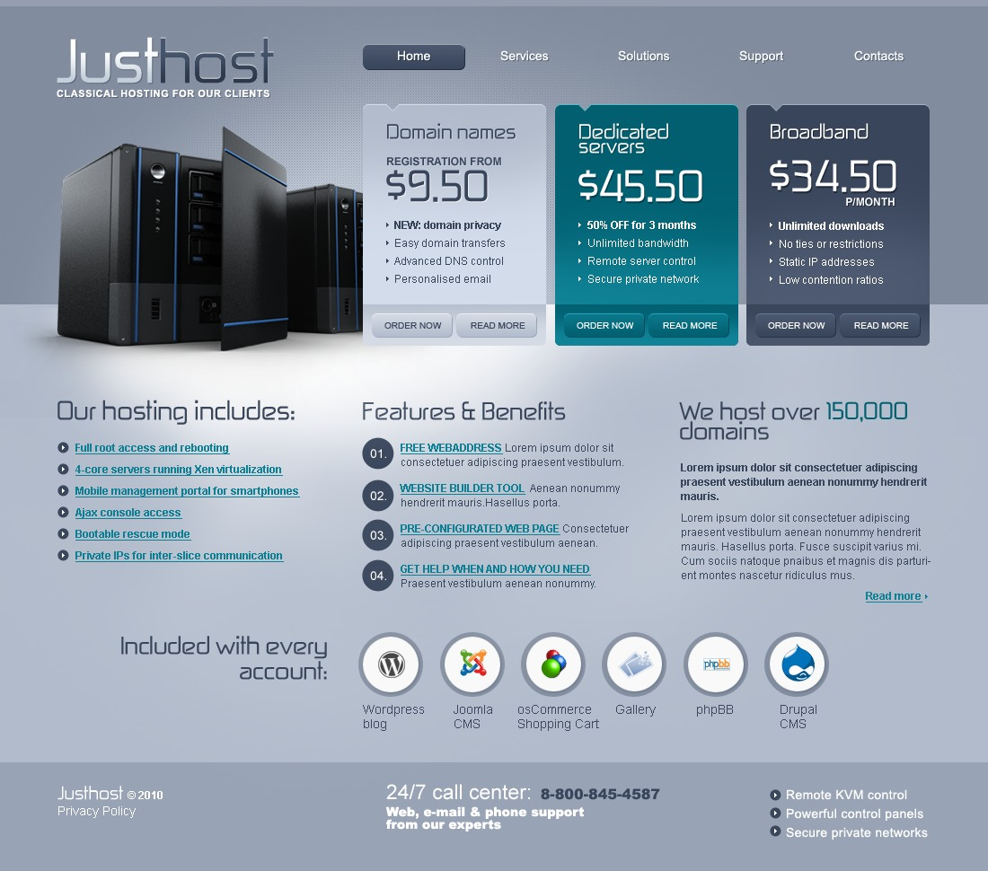 The Just Host PSD Design 54302, one of the best PSD templates of its kind (hosting, flash 8, wide), also known as just host PSD template, hosting company solution PSD template, domain PSD template, services PSD template, beginner PSD template, plan PSD template, standard PSD template, advanced PSD template, dedicated PSD template, workteam PSD template, tools PSD template, special offer PSD template, server PSD template, monitoring PSD template, management PSD template, account PSD template, activation PSD template, client PSD template, technology solution PSD template, data center provider PSD template, traffic PSD template, internet PSD template, web IT processor PSD template, spa and related with just host, hosting company solution, domain, services, beginner, plan, standard, advanced, dedicated, workteam, tools, special offer, server, monitoring, management, account, activation, client, technology solution, data center provider, traffic, internet, web IT processor, spa, etc.