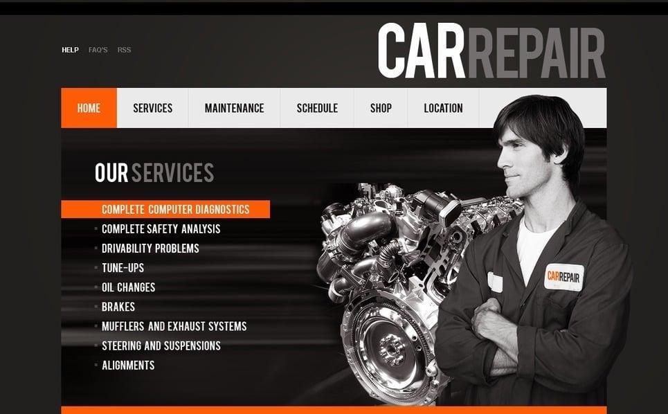 Plantilla PSD #54303 para Sitio de Reparación de coches New Screenshots BIG