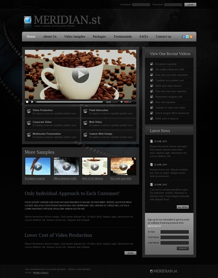 ADOBE Photoshop Template 54304 Home Page Screenshot