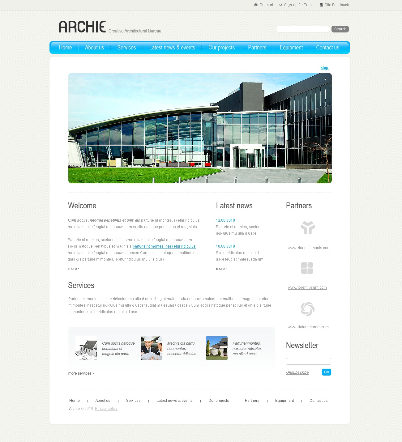 The Archie Architecture Company PSD Design 54305, one of the best PSD templates of its kind (architecture, flash 8, wide), also known as archie architecture company PSD template, buildings PSD template, technology PSD template, innovation PSD template, skyscrapers PSD template, projects PSD template, constructions PSD template, houses PSD template, work PSD template, team PSD template, strategy PSD template, services PSD template, support PSD template, planning solutions design PSD template, non-standard PSD template, creative ideas PSD template, catalogue PSD template, windows PSD template, doors PSD template, equipme and related with archie architecture company, buildings, technology, innovation, skyscrapers, projects, constructions, houses, work, team, strategy, services, support, planning solutions design, non-standard, creative ideas, catalogue, windows, doors, equipme, etc.