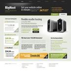 Web Hosting PSD  Template 54307