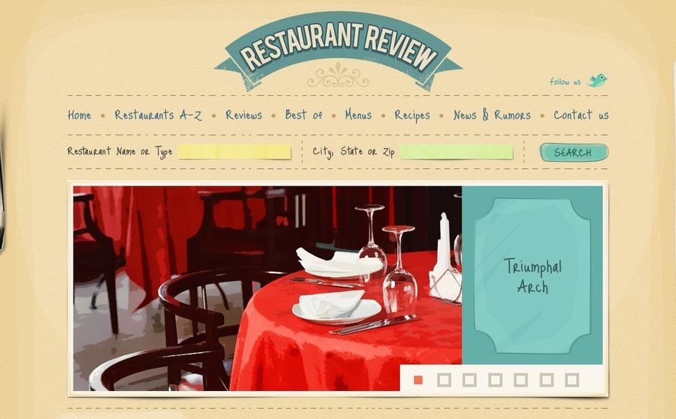 PSD Template over Restaurantbeoordelingen New Screenshots BIG