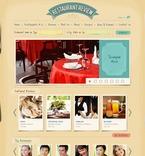 Cafe & Restaurant PSD  Template 54308