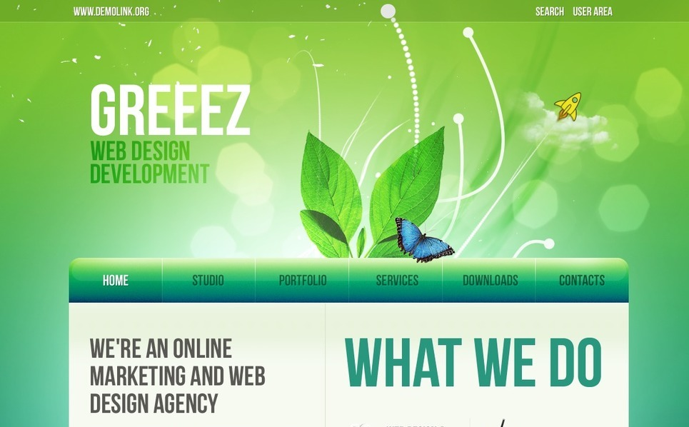 Tema PSD  #54312 per Un Sito di Web Design New Screenshots BIG