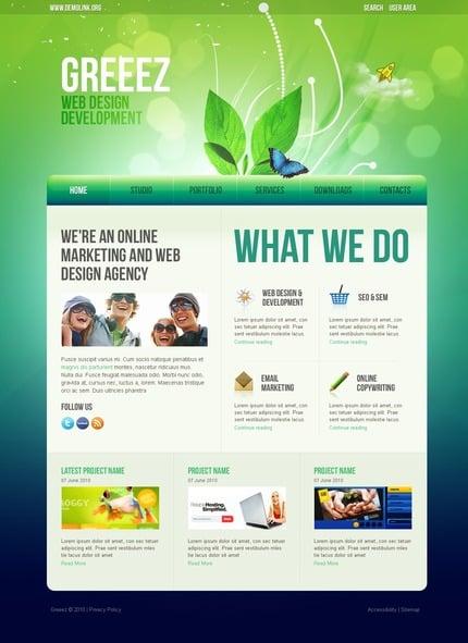 ADOBE Photoshop Template 54312 Home Page Screenshot