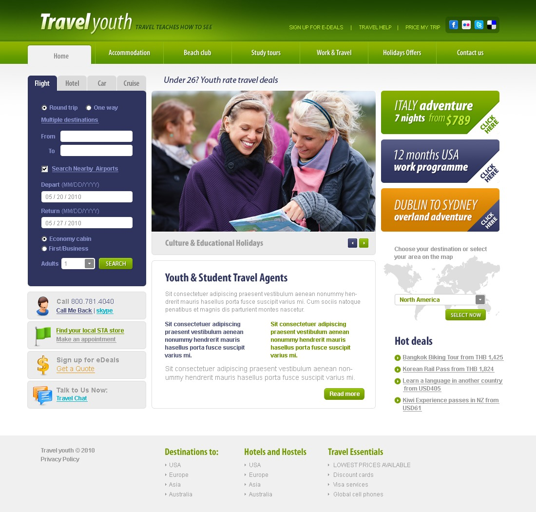 The Travel Youth PSD Design 54314, one of the best PSD templates of its kind (travel, flash 8, wide), also known as travel youth PSD template, expert agency PSD template, compass PSD template, tour country PSD template, resort PSD template, spa PSD template, flight hotel PSD template, car PSD template, rental PSD template, cruise PSD template, sights PSD template, reservation PSD template, location PSD template, authorization PSD template, ticket PSD template, guide PSD template, beach PSD template, sea PSD template, relaxation PSD template, recreation PSD template, impression PSD template, air PSD template, liner PSD template, traveling PSD template, apartment PSD template, vacation PSD template, rest PSD template, comfort PSD template, destinat and related with travel youth, expert agency, compass, tour country, resort, spa, flight hotel, car, rental, cruise, sights, reservation, location, authorization, ticket, guide, beach, sea, relaxation, recreation, impression, air, liner, traveling, apartment, vacation, rest, comfort, destinat, etc.