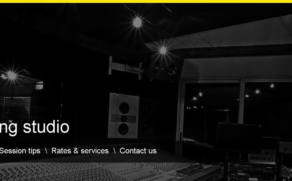 录音棚网站PSD模板 New Screenshots BIG