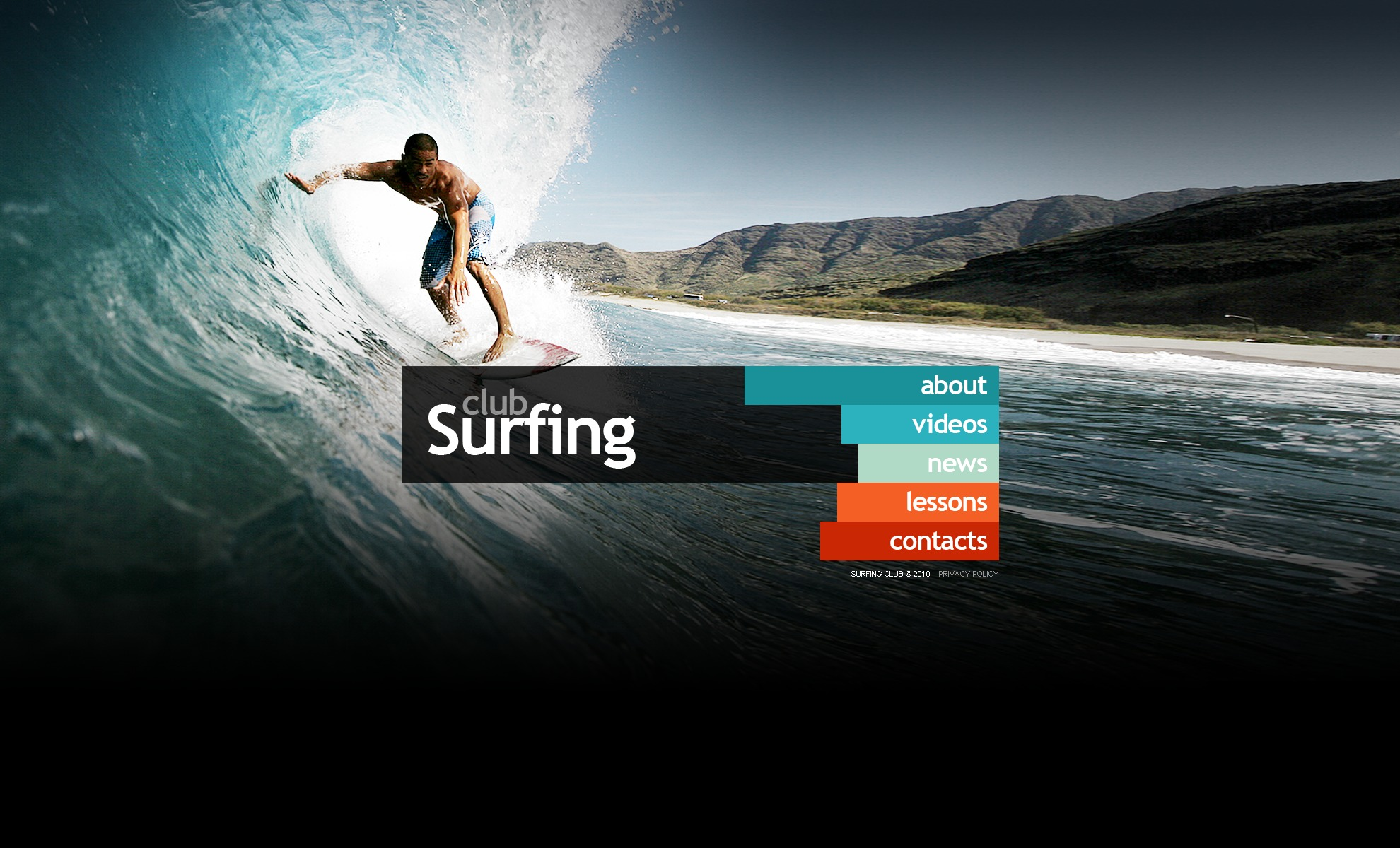 The Surfing Club PSD Design 54316, one of the best PSD templates of its kind (sport, wide), also known as surfing club PSD template, sport PSD template, sea PSD template, ocean PSD template, surf-riding PSD template, board PSD template, team PSD template, shop PSD template, products PSD template, gallery PSD template, surf school PSD template, teachers PSD template, programs and related with surfing club, sport, sea, ocean, surf-riding, board, team, shop, products, gallery, surf school, teachers, programs, etc.