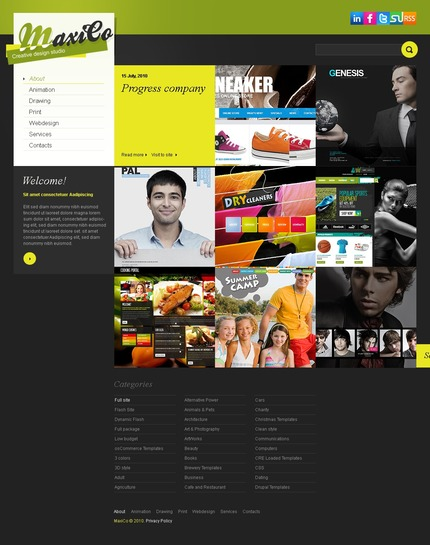 ADOBE Photoshop Template 54317 Home Page Screenshot