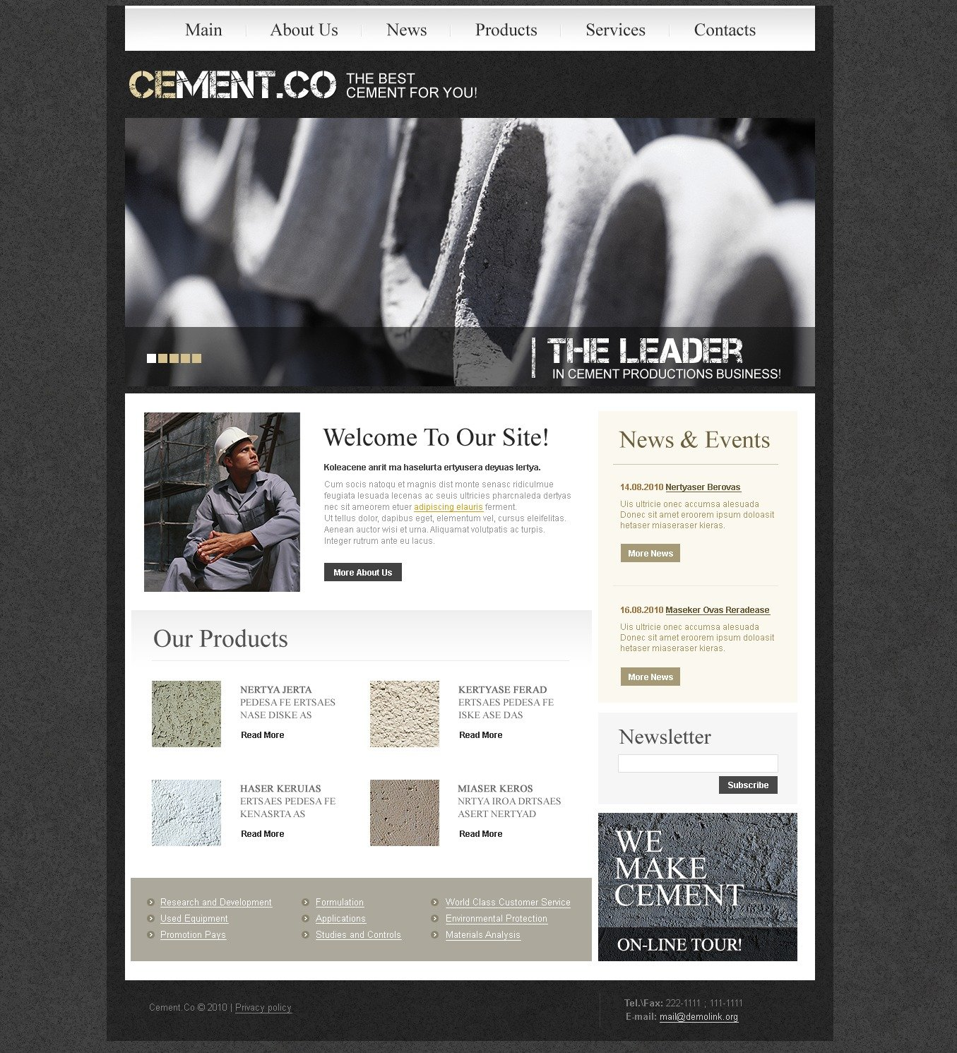 The Cement Company PSD Design 54319, one of the best PSD templates of its kind (industrial, wide, jquery), also known as cement company PSD template, building PSD template, builders PSD template, products PSD template, services PSD template, customers careers PSD template, aggregates PSD template, clinker PSD template, materials and related with cement company, building, builders, products, services, customers careers, aggregates, clinker, materials, etc.