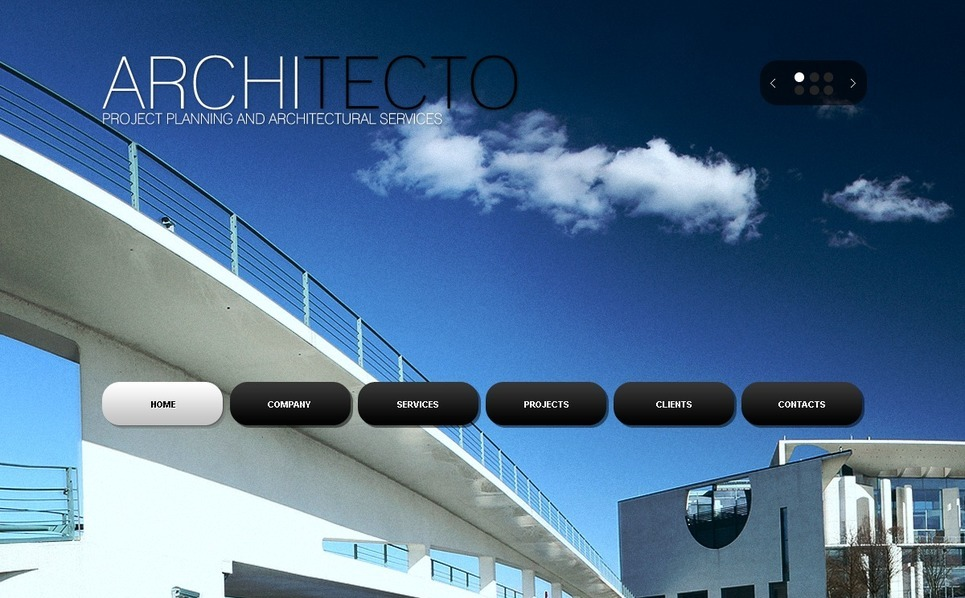 Template Photoshop  para Sites de Arquitetura №54321 New Screenshots BIG