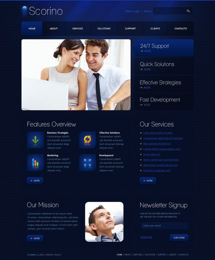 ADOBE Photoshop Template 54325 Home Page Screenshot