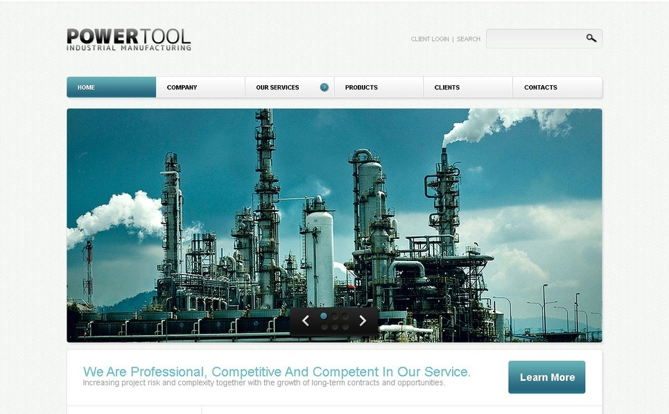 Tema PSD  #54327 per Un Sito di Industria New Screenshots BIG