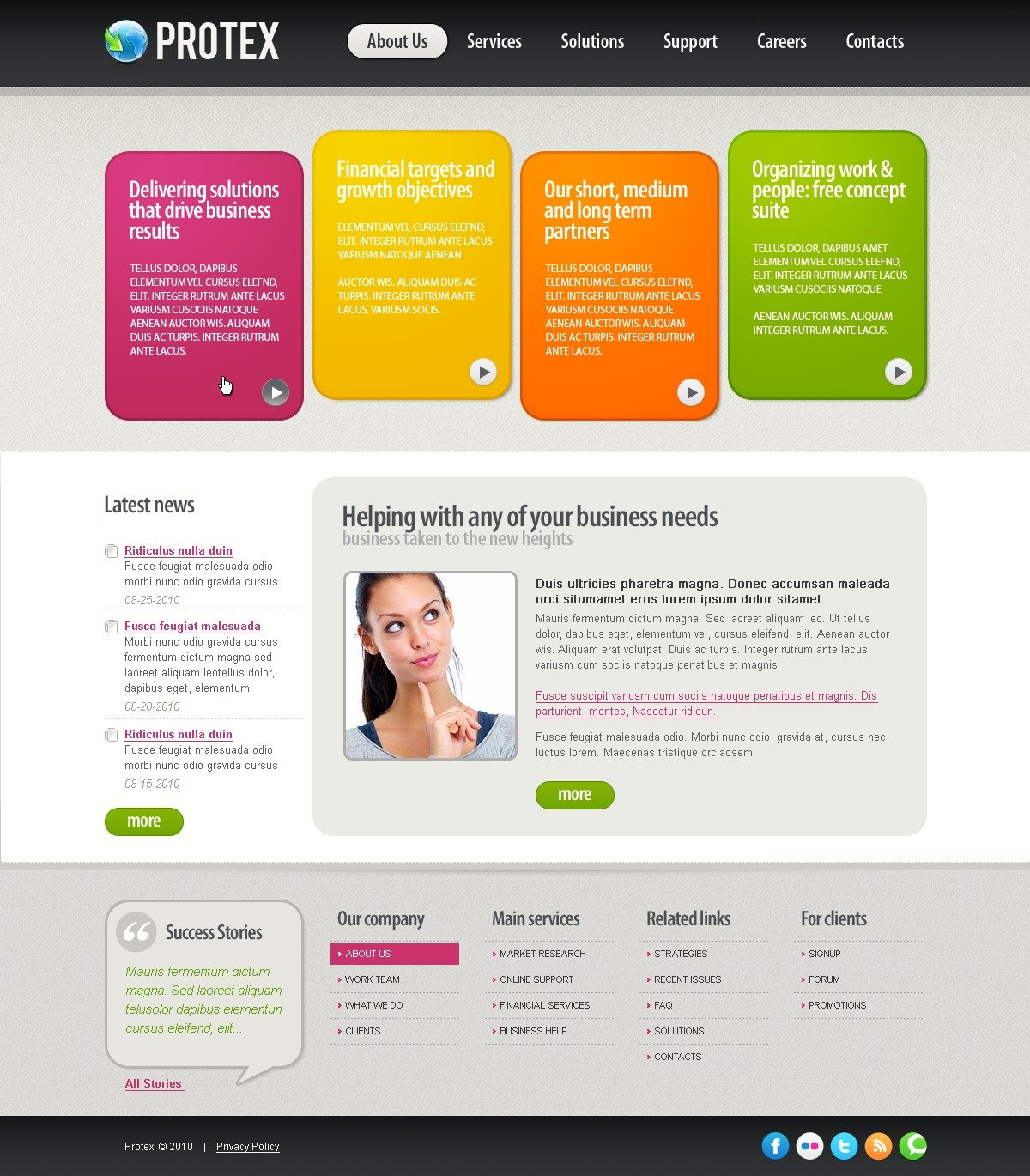 The Protex Business Company PSD Design 54328, one of the best PSD templates of its kind (business, wide), also known as protex business company PSD template, corporate solutions PSD template, innovations PSD template, contacts PSD template, service PSD template, support PSD template, information dealer PSD template, stocks PSD template, team PSD template, success PSD template, money PSD template, marketing PSD template, director PSD template, manager PSD template, analytics PSD template, planning PSD template, limited PSD template, office PSD template, sales and related with protex business company, corporate solutions, innovations, contacts, service, support, information dealer, stocks, team, success, money, marketing, director, manager, analytics, planning, limited, office, sales, etc.