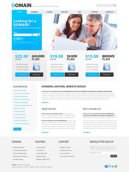 ADOBE Photoshop Template 54330 Home Page Screenshot