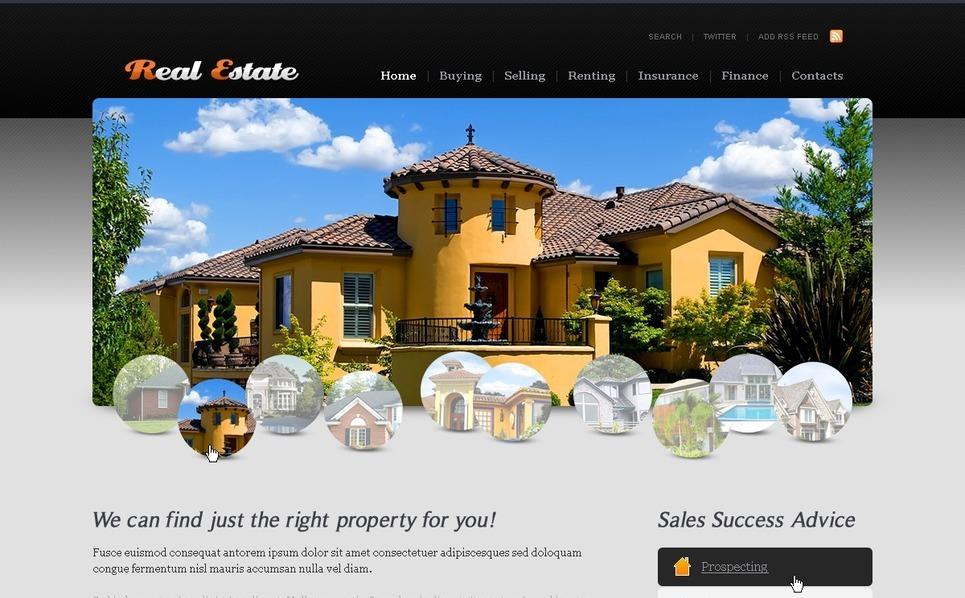 Template PSD  #54331 per Un Sito di Agenzia Immobiliare New Screenshots BIG