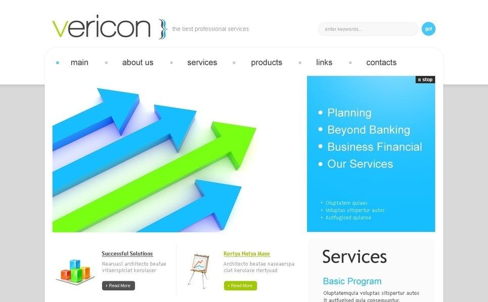 Plantilla PSD #54333 para Sitio de Negocio y Servicios New Screenshots BIG
