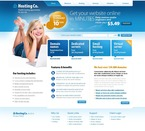 Web Hosting PSD  Template 54337