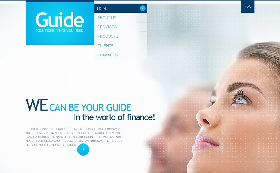 Pénzügyi tanácsadók PSD sablon New Screenshots BIG