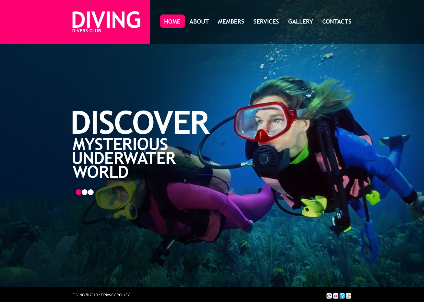The Diving Club PSD Design 54339, one of the best PSD templates of its kind (sport, most popular, wide, jquery), also known as diving club PSD template, member PSD template, water PSD template, sea PSD template, ocean PSD template, wave PSD template, scuba-diver PSD template, aqualung PSD template, submarine PSD template, underwater PSD template, oxygen PSD template, fish PSD template, coral PSD template, flippers PSD template, mask PSD template, reef PSD template, diving-suit PSD template, photography PSD template, camera PSD template, training PSD template, services PSD template, trainer PSD template, ring-buoy PSD template, life-guard PSD template, subscription PSD template, rules PSD template, travel PSD template, equipment and related with diving club, member, water, sea, ocean, wave, scuba-diver, aqualung, submarine, underwater, oxygen, fish, coral, flippers, mask, reef, diving-suit, photography, camera, training, services, trainer, ring-buoy, life-guard, subscription, rules, travel, equipment, etc.