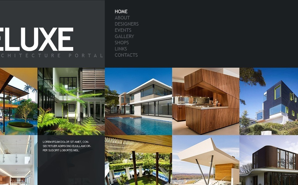 Szablon PSD #54340 na temat: architektura New Screenshots BIG