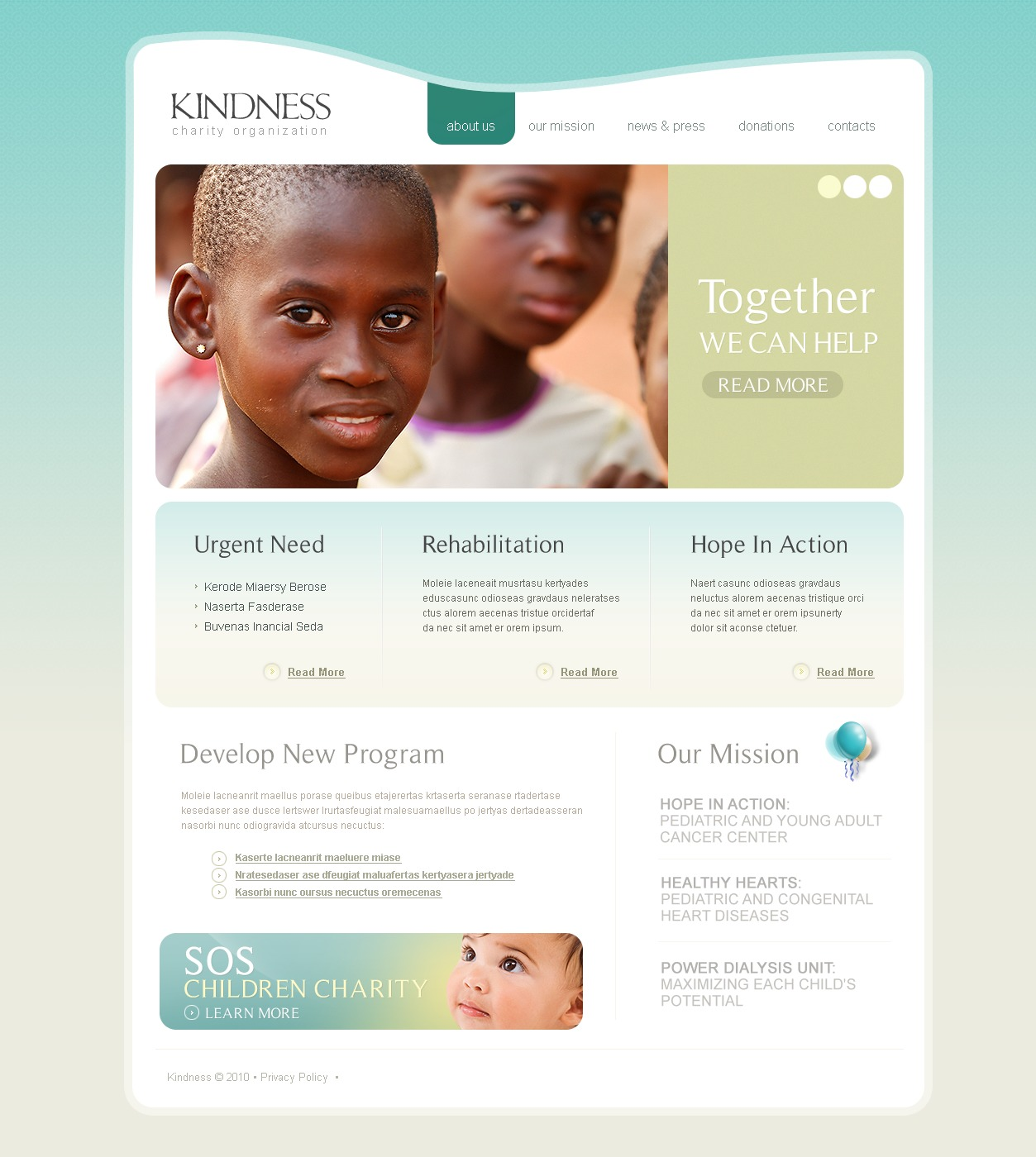 The Children Charity PSD Design 54342, one of the best PSD templates of its kind (charity, wide, jquery), also known as children charity PSD template, organization PSD template, children PSD template, indigent PSD template, donation PSD template, adoption PSD template, relief PSD template, fund PSD template, pecuniary PSD template, aid PSD template, non-profit PSD template, mission PSD template, team PSD template, work PSD template, department PSD template, work PSD template, project PSD template, children PSD template, events PSD template, partner and related with children charity, organization, children, indigent, donation, adoption, relief, fund, pecuniary, aid, non-profit, mission, team, work, department, work, project, children, events, partner, etc.
