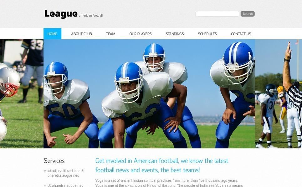 Plantilla PSD #54348 para Sitio de Fútbol americano New Screenshots BIG