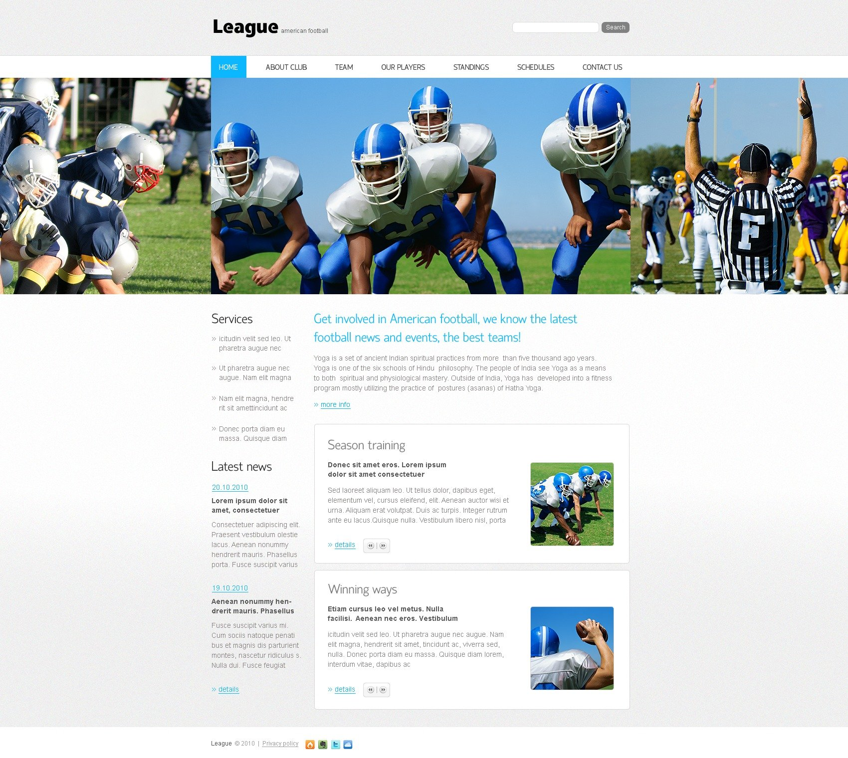 The League American PSD Design 54348, one of the best PSD templates of its kind (sport, most popular, flash 8, wide), also known as league american PSD template, football PSD template, syndrom PSD template, rugby PSD template, sport PSD template, game PSD template, news PSD template, team PSD template, league PSD template, score PSD template, championship PSD template, season PSD template, result PSD template, player PSD template, programs PSD template, photos PSD template, contacts PSD template, series PSD template, training PSD template, search PSD template, go PSD template, flash PSD template, tickets PSD template, info PSD template, video PSD template, latest sports PSD template, activities PSD template, action clubbing PSD template, team PSD template, group PSD template, people PSD template, newsflash PSD template, com and related with league american, football, syndrom, rugby, sport, game, news, team, league, score, championship, season, result, player, programs, photos, contacts, series, training, search, go, flash, tickets, info, video, latest sports, activities, action clubbing, team, group, people, newsflash, com, etc.