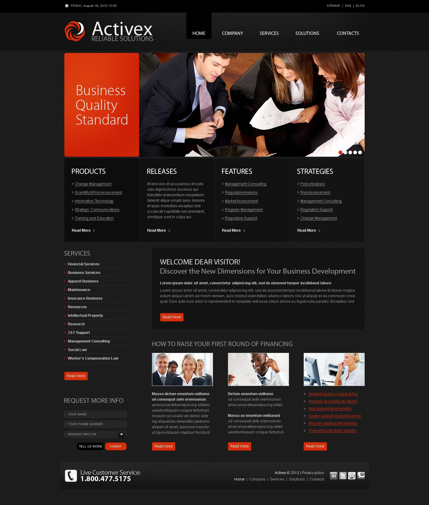 The Activex Business Company PSD Design 54349, one of the best PSD templates of its kind (business, flash 8, wide), also known as activex business company PSD template, corporate solutions PSD template, innovations PSD template, contacts PSD template, service PSD template, support PSD template, information dealer PSD template, stocks PSD template, team PSD template, success PSD template, money PSD template, marketing PSD template, director PSD template, manager PSD template, analytics PSD template, planning PSD template, limited PSD template, office PSD template, sales and related with activex business company, corporate solutions, innovations, contacts, service, support, information dealer, stocks, team, success, money, marketing, director, manager, analytics, planning, limited, office, sales, etc.