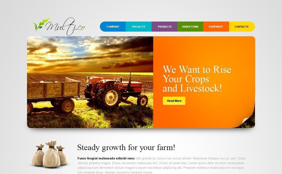 PSD шаблон  сельскохозяйственной тематики №54350 New Screenshots BIG