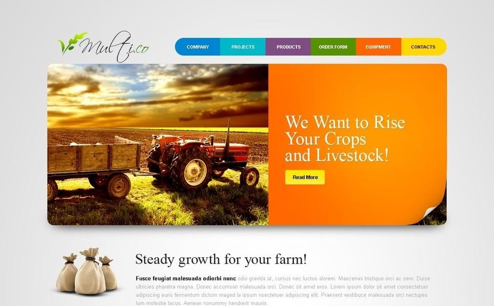 PSD шаблон на тему сільське господарство New Screenshots BIG