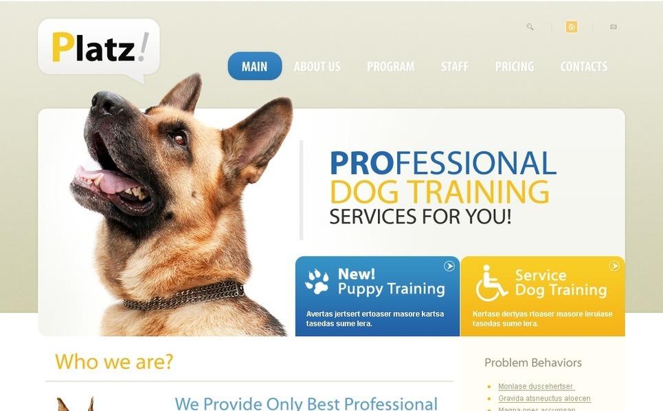Template PSD  #54352 per Un Sito di Cani New Screenshots BIG
