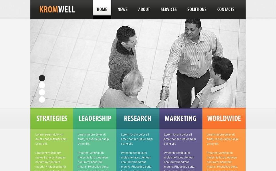 PSD шаблон №54353 на тему Бизнес и услуги New Screenshots BIG