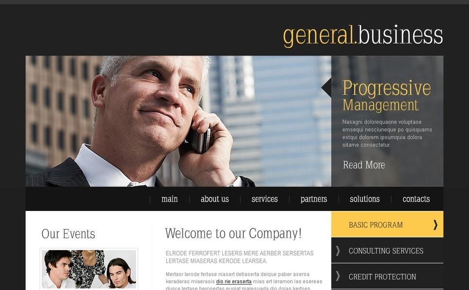 Plantilla PSD #54354 para Sitio de Negocio y Servicios New Screenshots BIG