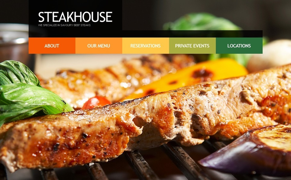 PSD šablona Steaková Restaurace New Screenshots BIG