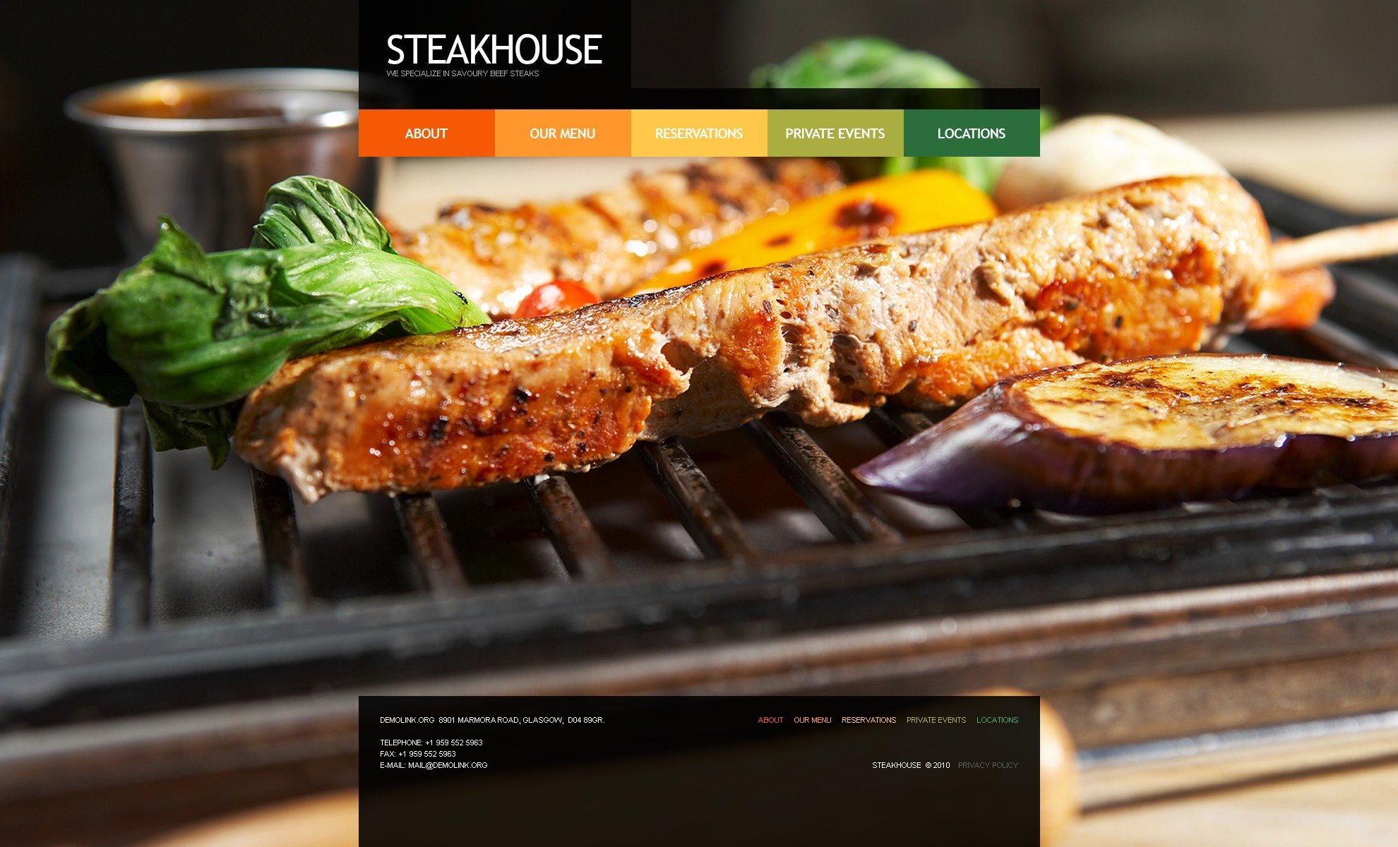 The Steakhouse Restaurant PSD Design 54356, one of the best PSD templates of its kind (cafe and restaurant, wide, jquery), also known as steakhouse restaurant PSD template, cafe PSD template, food PSD template, eat PSD template, steak PSD template, house PSD template, meat PSD template, tasty PSD template, cook PSD template, cooking PSD template, delicious and related with steakhouse restaurant, cafe, food, eat, steak, house, meat, tasty, cook, cooking, delicious, etc.