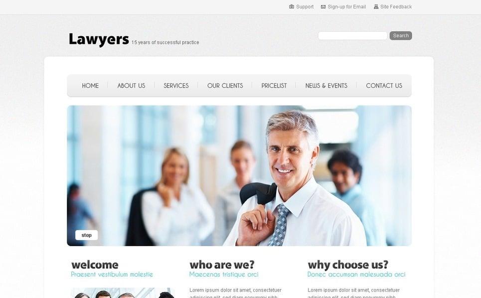 PSD шаблон №54363 на тему юрист New Screenshots BIG