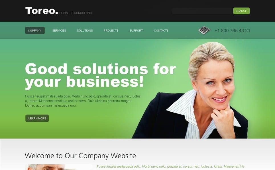 PSD шаблон №54364 на тему Бизнес и услуги New Screenshots BIG