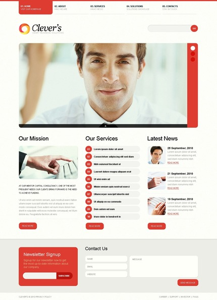 ADOBE Photoshop Template 54365 Home Page Screenshot