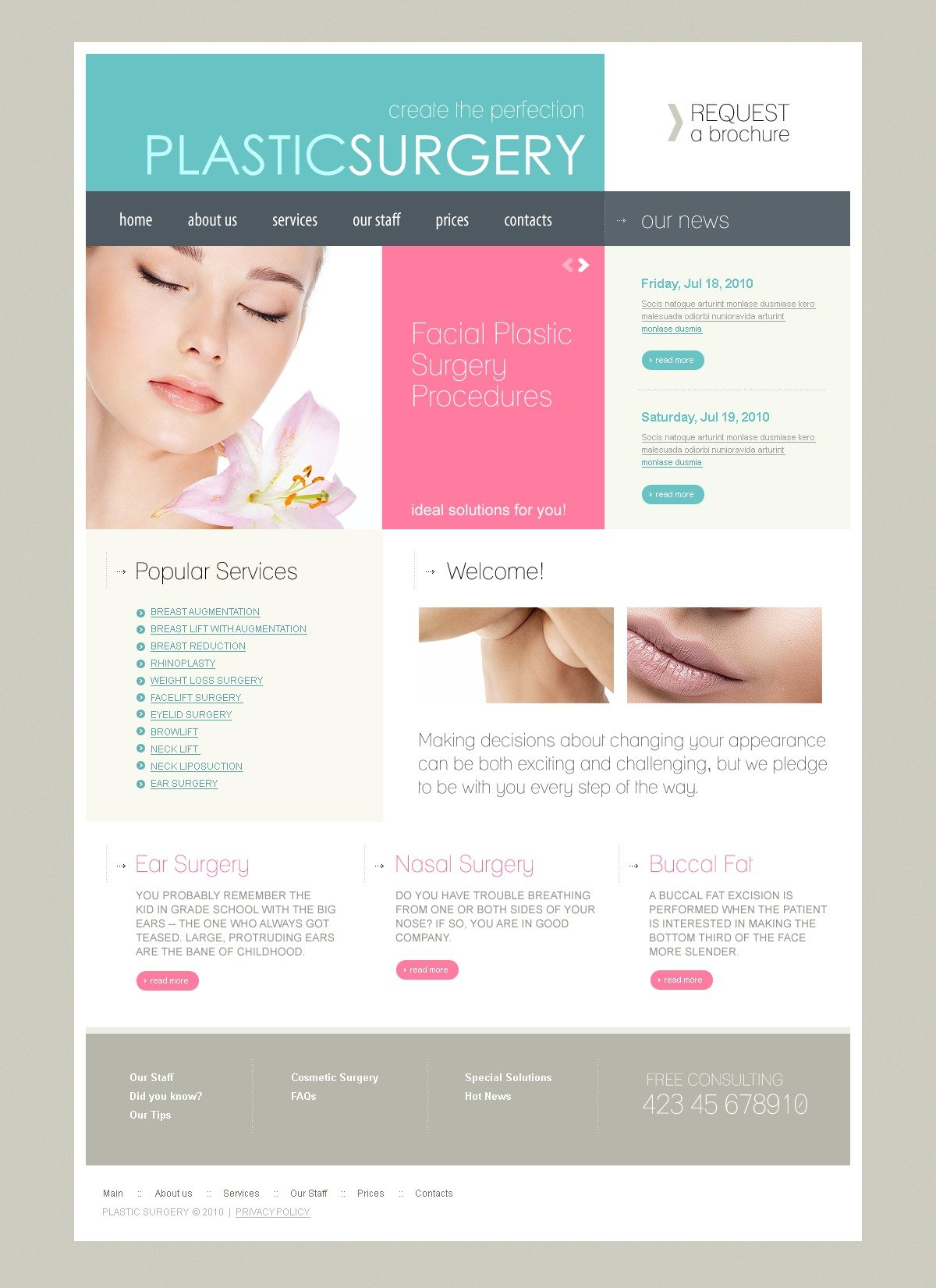 The Plastic Surgery PSD Design 54366, one of the best PSD templates of its kind (medical, wide, jquery), also known as plastic surgery PSD template, surgeon PSD template, doctor PSD template, surgery PSD template, face PSD template, beauty PSD template, lifting PSD template, body PSD template, breasts clinic PSD template, services PSD template, client PSD template, testimonials PSD template, body PSD template, help PSD template, inspection PSD template, equipment PSD template, patients PSD template, medicine PSD template, healthcare PSD template, consultation PSD template, specialists PSD template, procedure PSD template, drugs PSD template, pills PSD template, cure PSD template, vaccine PSD template, treatment and related with plastic surgery, surgeon, doctor, surgery, face, beauty, lifting, body, breasts clinic, services, client, testimonials, body, help, inspection, equipment, patients, medicine, healthcare, consultation, specialists, procedure, drugs, pills, cure, vaccine, treatment, etc.