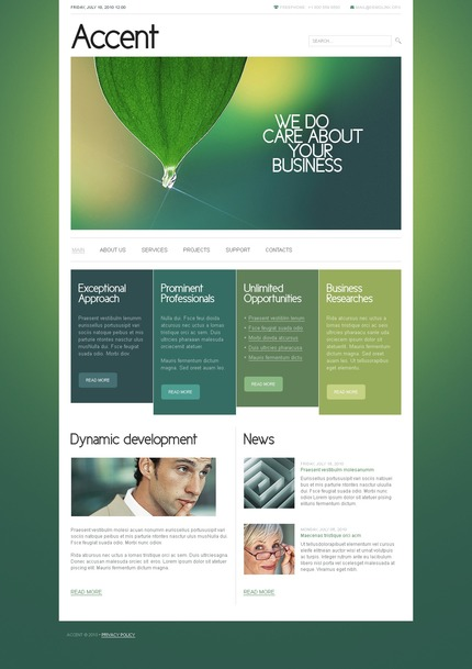 ADOBE Photoshop Template 54367 Home Page Screenshot