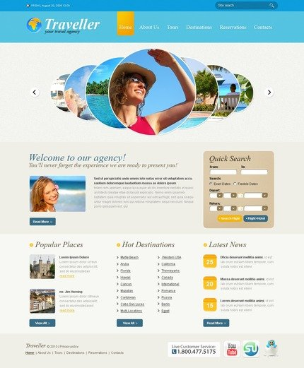 ADOBE Photoshop Template 54375 Home Page Screenshot