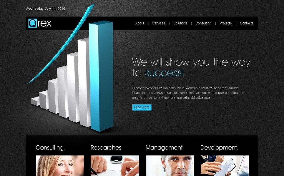 Template Photoshop  para Sites de Business & Services №54376 New Screenshots BIG