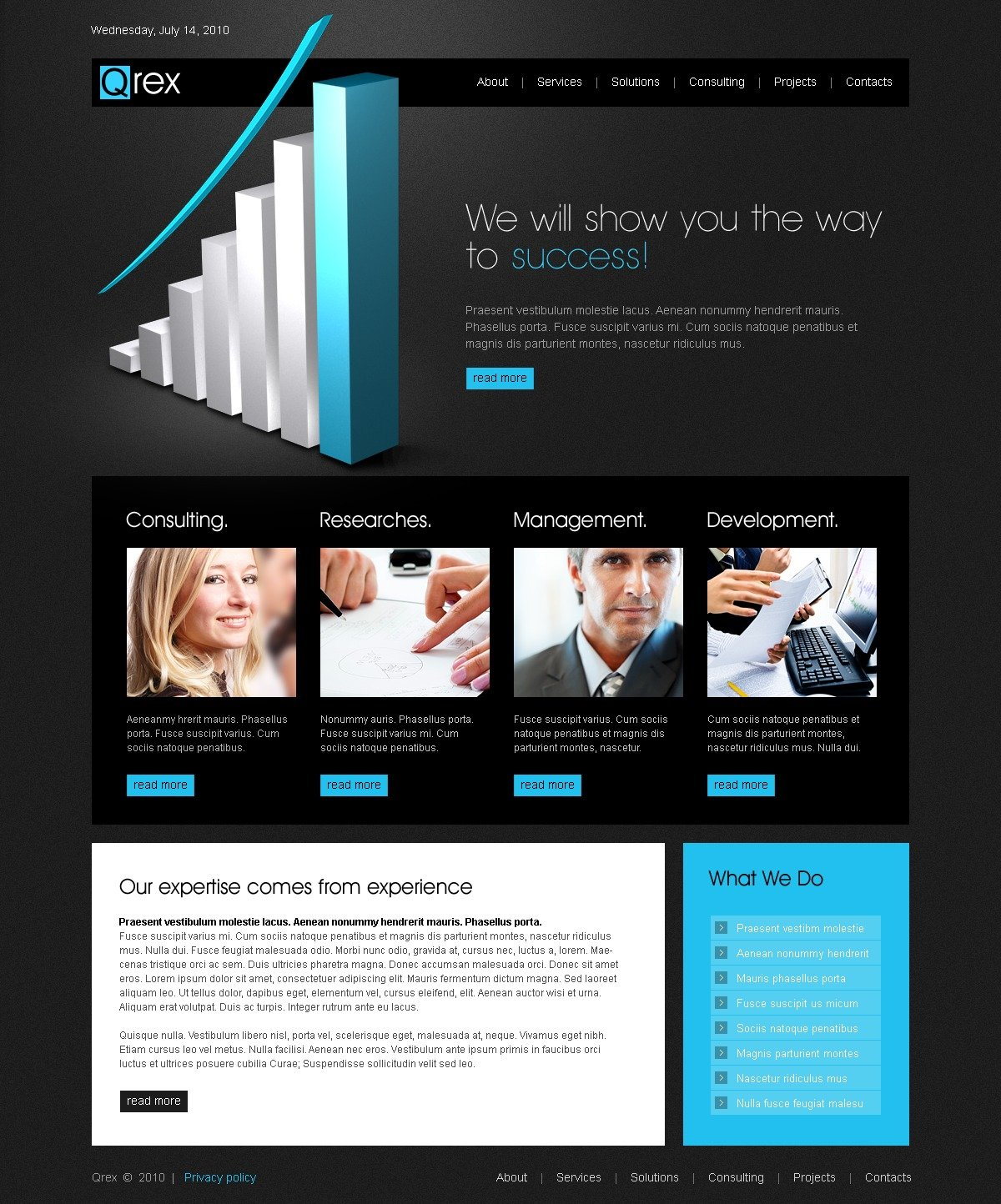 The Qrex Business Company PSD Design 54376, one of the best PSD templates of its kind (business, flash 8, wide), also known as qrex business company PSD template, corporate solutions PSD template, innovations PSD template, contacts PSD template, service PSD template, support PSD template, information dealer PSD template, stocks PSD template, team PSD template, success PSD template, money PSD template, marketing PSD template, director PSD template, manager PSD template, analytics PSD template, planning PSD template, limited PSD template, office PSD template, sales and related with qrex business company, corporate solutions, innovations, contacts, service, support, information dealer, stocks, team, success, money, marketing, director, manager, analytics, planning, limited, office, sales, etc.