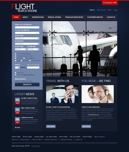 ADOBE Photoshop Template 54379 Home Page Screenshot